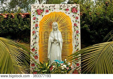 San Diego,ca - 8 May,2014:virgin Mary Of Guadalupe,the Image Of The Virgin,most Revered Shrine In La
