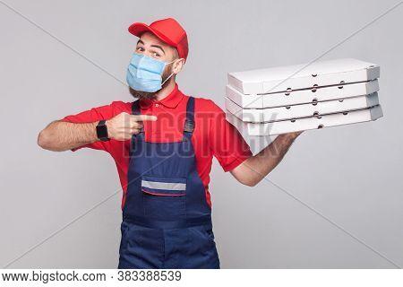 Delivery Pizza On Quarantine.