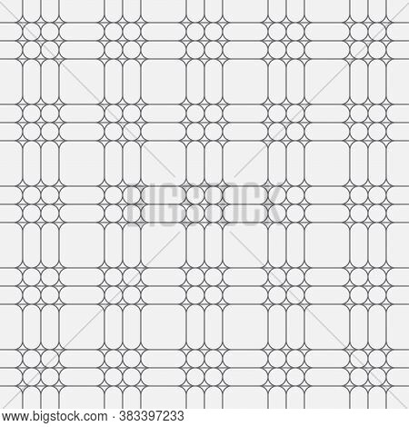 Seamless Pattern. Modern Stylish Texture. Regularly Repeating Traditional Geometrical Tiles With Rho