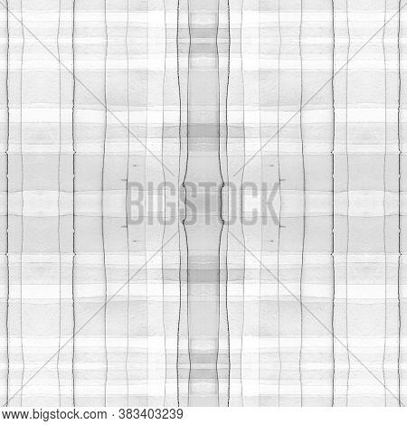 Check Mens Shirt Print. Watercolour Plaid Border. Irish Traditional Stripes For Twill Print. Seamles