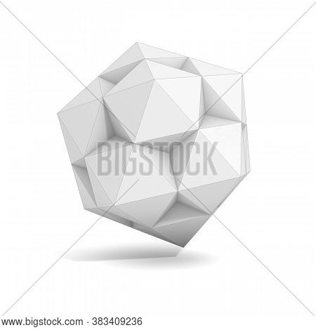 Abstract Geometric 3d Object, More Polyhedron Variations In This Set