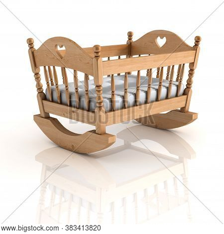 Cradle Isolated On White Background 3d Renderig