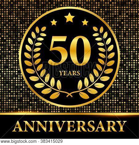 50th Anniversary Celebration. Celebration 20th Anniversary Event Party Template. Vector Stock Illust