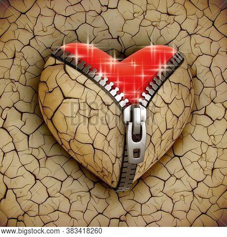 Broken Heart Reborn - 3d Concept, Three Dimensional Object