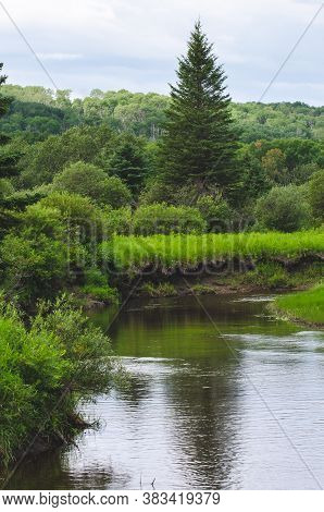 A Tranquil Scene Of The Shell River On The Shell River Valley Hiking Trail In Duck Mountain Provinci