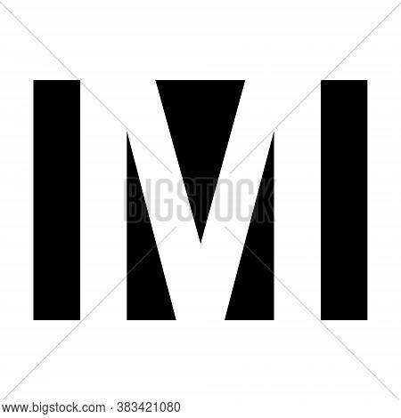Simple Elegant Logo Letter M Vector Premium Business Logo Letter M, Graphic Alphabetic Symbol For Bu