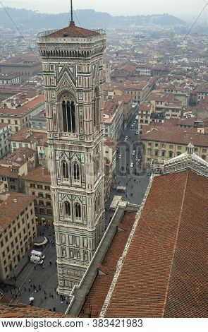 Autumn View Of Giotto's Bell Tower From The Top Of Brunelleschi's Dome In Florence