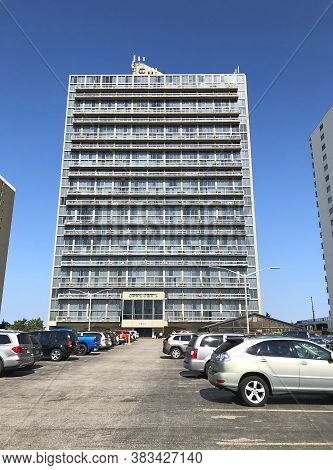 Ocean City, Md: Century One Condominium Beachfront Building Located On 99th Street And Coastal Highw