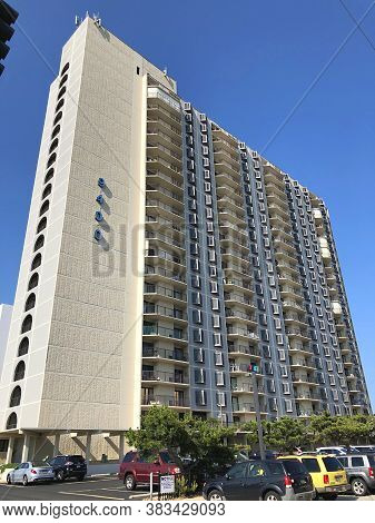 Ocean City, Md: 9400 Condominium Oceanfront High-rise Building Located On 94th Street And Coastal Hi