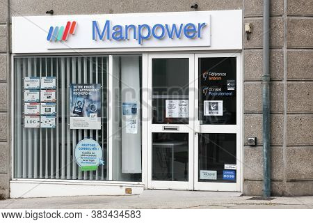Vienne, France - June 7, 2020: Manpower Agency. Manpowergroup Is The Third-largest Staffing Firm In