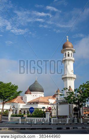 Georgetown, Penang/malaysia - Feb 14 2020: Architecture At Kapitan Keling Mosque.