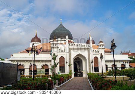 Georgetown, Penang/malaysia - Feb 14 2020: Religious Building Masjid Kapitan Keling
