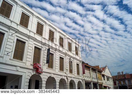 Georgetown, Penang/malaysia - Feb 14 2020: Georgetown, Penang/malaysia - Feb 14 2020: Colonial Archi
