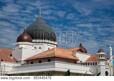 Georgetown, Penang/malaysia - Feb 14 2020: Architecture Kapitan Keling Mosque.