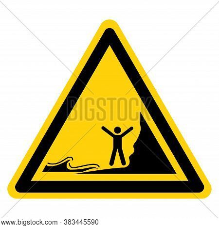 Warning Watch Out Don't Be Stranded By Incoming Tides Symbol Sign, Vector Illustration, Isolate On W
