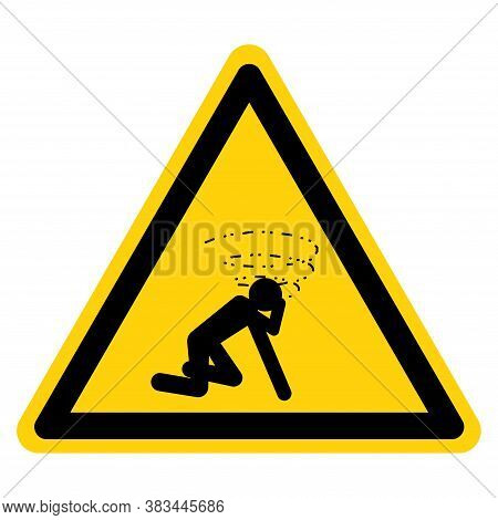 Warning Man Dizzy Suffocation Hazard Symbol Sign, Vector Illustration, Isolate On White Background L