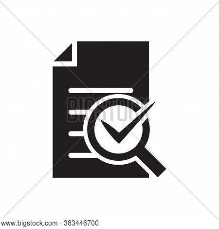 Audit Icon Vector Magnifying Glass Like Check Assess. Verify Service Critique Process, Scrutiny Plan