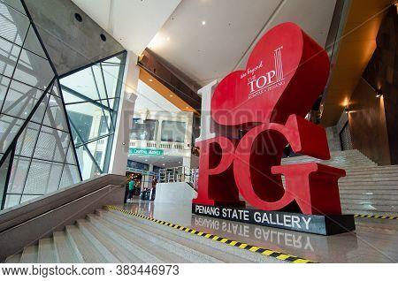 Georgetown, Penang/malaysia - Feb 27 2020: I Love Penang Advertisement Board Of Penang State Gallery