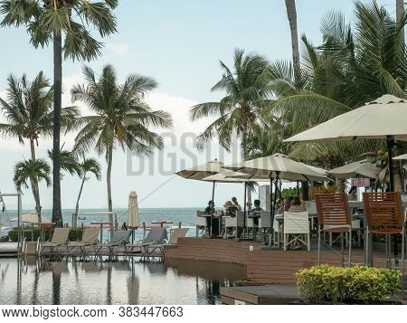 Pattaya, Thailand - March 7, 2019: Swimpool Pullman Hotel Pattaya Thailand.