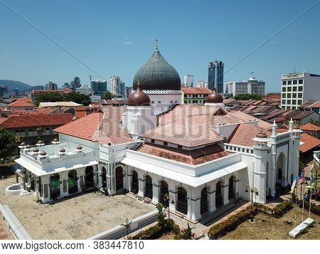 Georgetown, Penang/malaysia - Feb 28 2020: Architecture Kapitan Keling Mosque