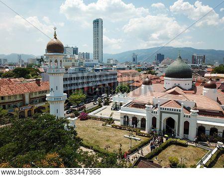 Georgetown, Penang/malaysia - Feb 28 2020: Prayer Leave Masjid Kapitan Keling After Friday Pray.
