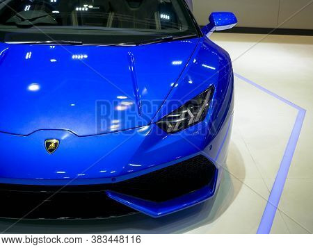 Thailand Motor Show 2019 Bangkok - April 3, 2019: Lamborghini Super Car On Display At The 40th Bangk