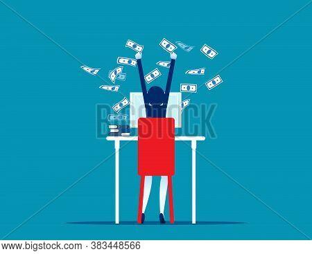 Passive Income Breakthrough. Flat Business Cartoon Vector Design