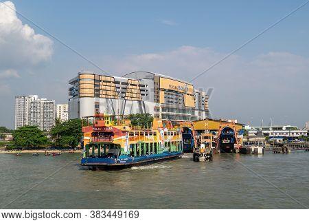 Butterworth, Penang/malaysia - Feb 29 2020: Penang Ferry At Butterworth Terminal