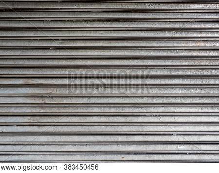 Stainless Rolling Shutter Door Background Using. Stainless Rolling Shutter Door Background Using.