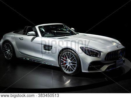 A Mercedes-amg Gt C Car At The International Auto Show 2018 Bangkok,thailand April 6, 2018
