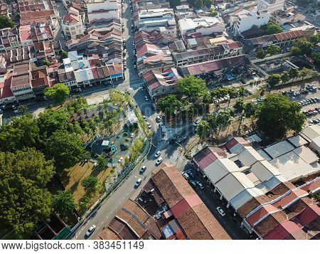 Georgetown, Penang/malaysia - Feb 29 2020: Street At Sia Boey Urban Archaeological Park