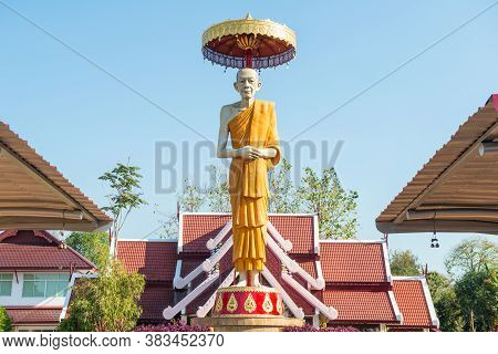 Lampang, Thailand : December-27-2018 : The Monument Statue Of Luang Phor Kasem One Of The Top Buddhi