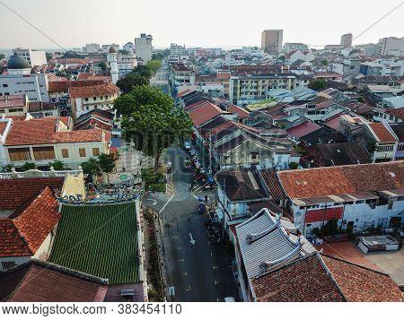 Georgetown, Penang/malaysia - Mar 21 2020: Armenian Street In Morning