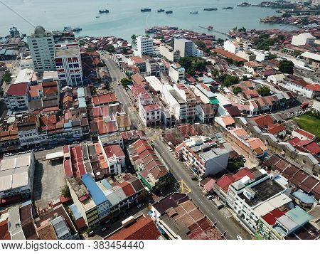 Georgetown, Penang/malaysia - Mar 21 2020: No Car In Street During Malaysia Movement Control Order.