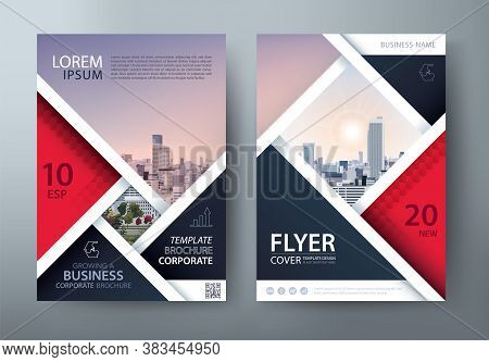 Annual Report Brochure Flyer Design, Leaflet Presentation, Book Cover Templates, Layout In A4 Size