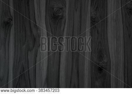 Grunge Dark Wood Plank Texture Background. Vintage Black Wooden Board Wall Antique Cracking Old Styl