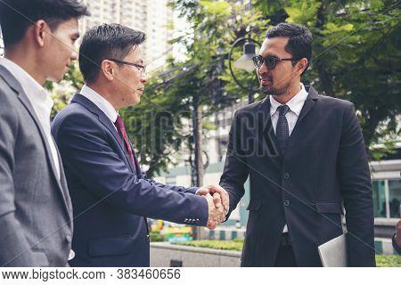 Partner Business Trust Teamwork Partnership. Industry Contractor Fist Bump Dealing Mission Business.