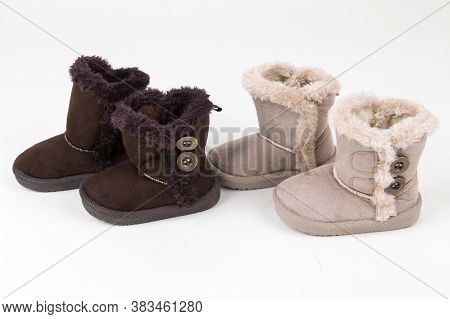 Cute Winter Baby Shoes. Two Pairs. Winter