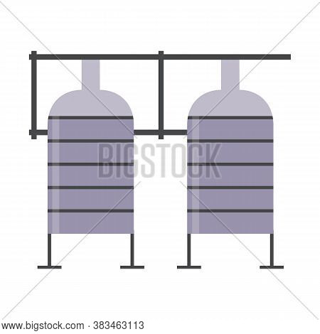 Milk Factory Tanks For Dairy Pasteurization - Metal Reservoirs With Pipe