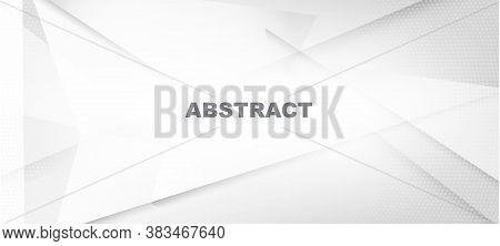 Halftone Modern Gray Vector Background. Geometric Dots Texture. Halftone Wallpaper. Dynamic Faded Ba