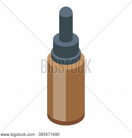 Essential Oils Pipette Bottle Icon. Isometric Of Essential Oils Pipette Bottle Vector Icon For Web D