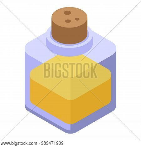 Medical Essential Oils Icon. Isometric Of Medical Essential Oils Vector Icon For Web Design Isolated