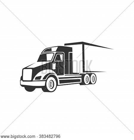 Webtruck Logistic Vector Silhouette Logo Template. Perfect For Delivery Or Transportation Industry L