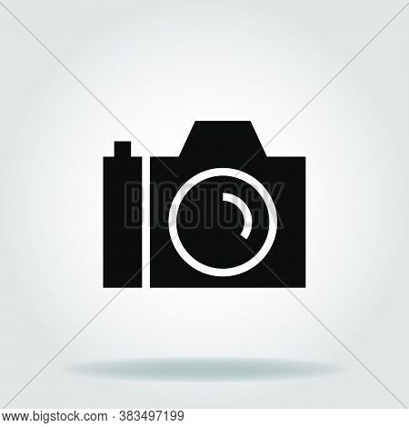 Logo Or Symbol Of Dslr Camera Icon With Black Fill Style