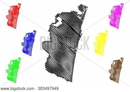 Chennai City (republic Of India, Tamil Nadu State) Map Vector Illustration, Scribble Sketch City Of