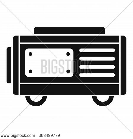 Fuel Generator Icon. Simple Illustration Of Fuel Generator Vector Icon For Web Design Isolated On Wh
