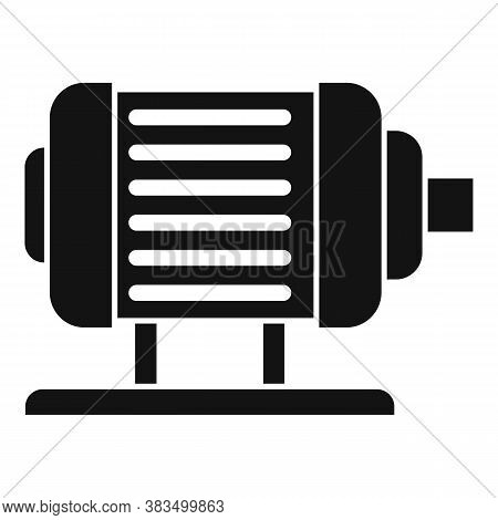 Electric Motor Icon. Simple Illustration Of Electric Motor Vector Icon For Web Design Isolated On Wh