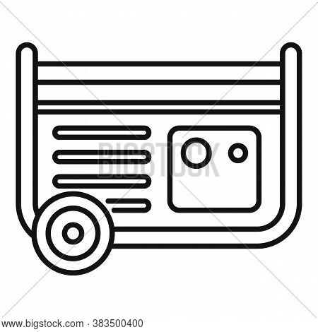 Diesel Generator Icon. Outline Diesel Generator Vector Icon For Web Design Isolated On White Backgro