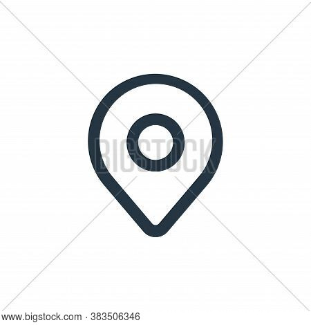 pin icon isolated on white background from interface collection. pin icon trendy and modern pin symb