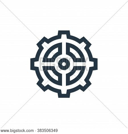 cogwheel icon isolated on white background from machinery collection. cogwheel icon trendy and moder